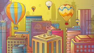 Hot Air Balloons In The City