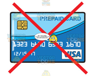 A Crossed Out Prepaid Card