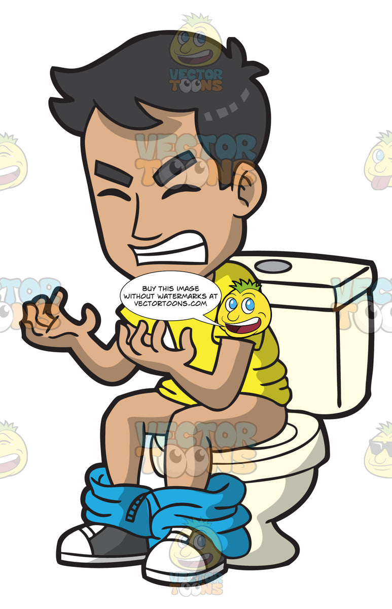 A Constipated Man Clipart Cartoons By Vectortoons