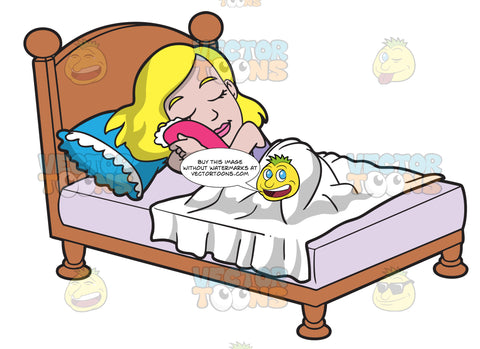 A Woman Sleeping Soundly In Her Bed