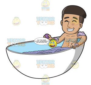 A Man Enjoying His Bath Bomb