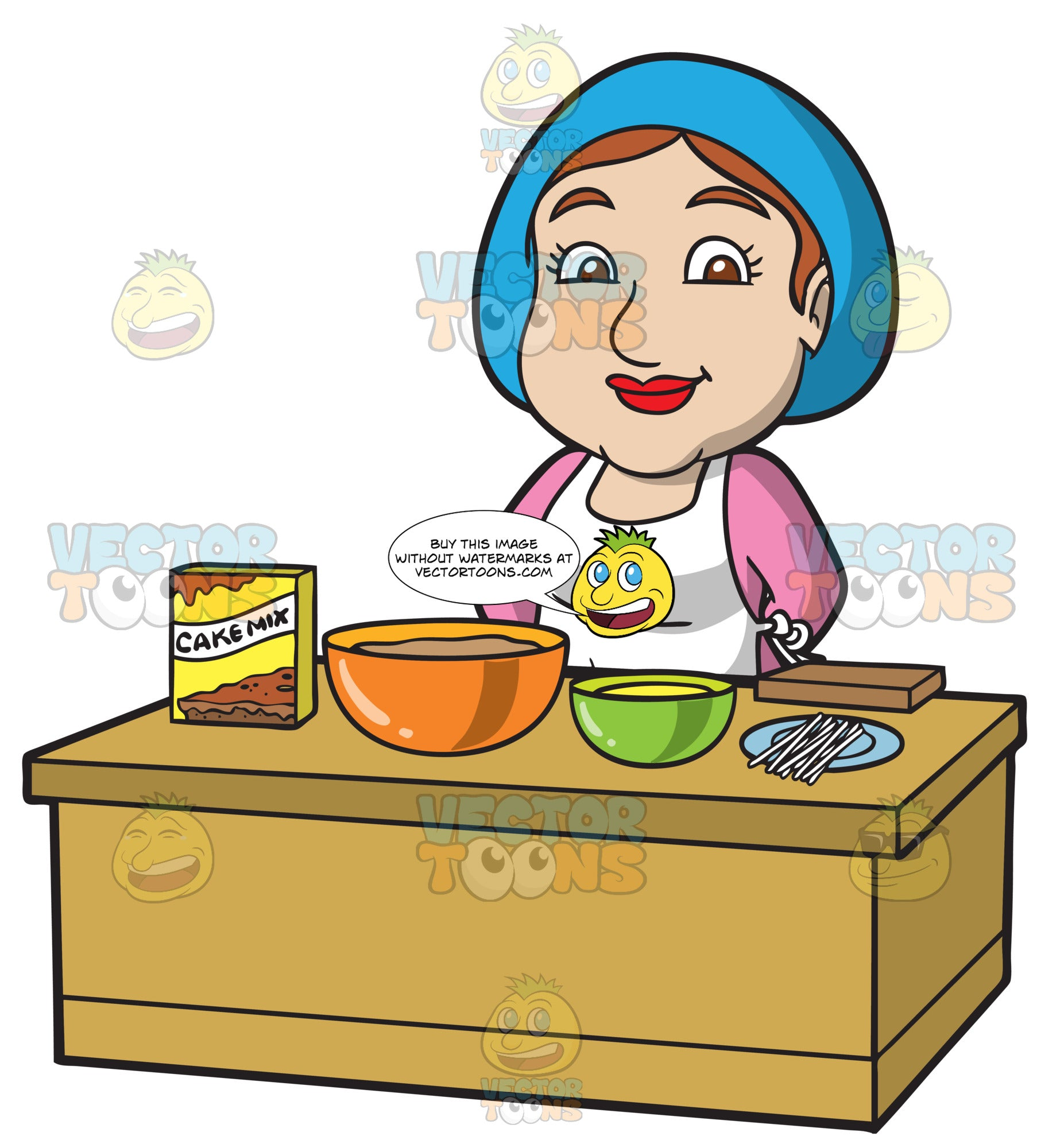 A Lady Preparing The Ingredients For Cake Pops