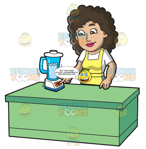 A Woman Processing The Soap Using A Blender