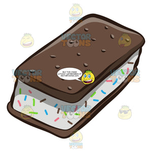 A Delightful Bar Of Ice Cream Sandwich