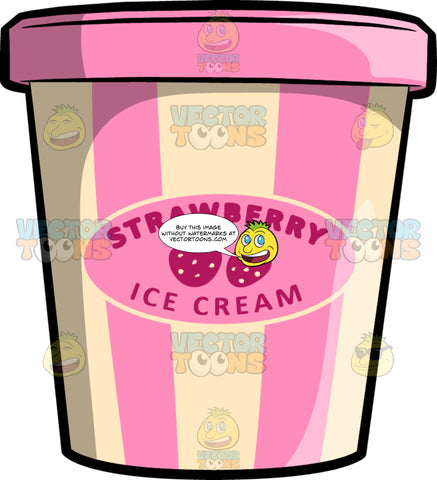 A Pint Of Strawberry Ice Cream