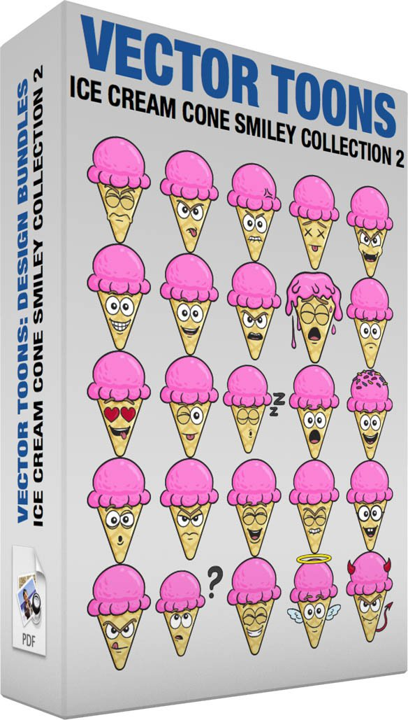 Ice Cream Cone Smiley Collection 2
