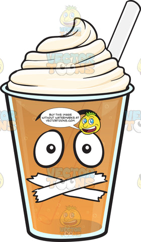 Sealed Mouth Frappe Emoji