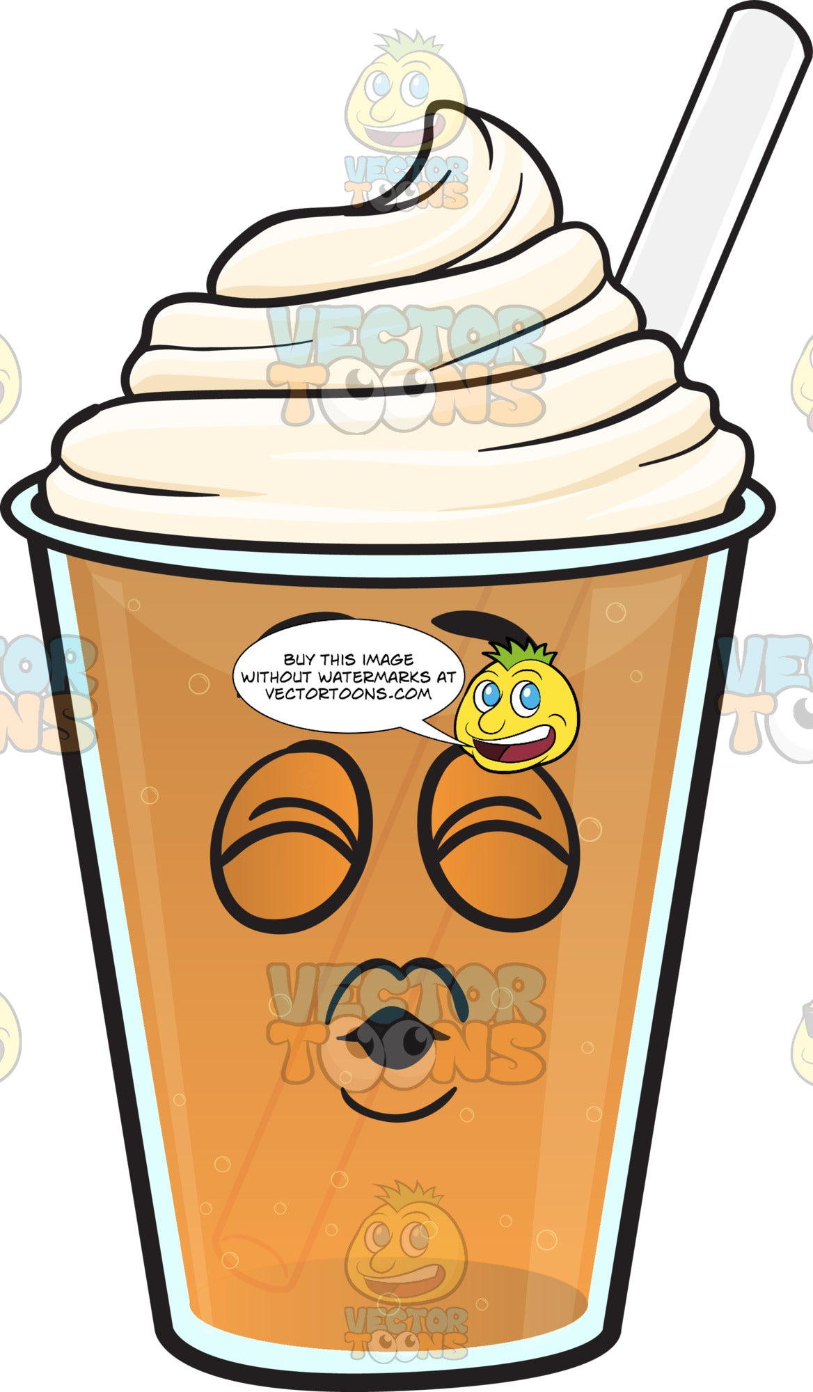 Sealed With A Kiss Frappe Emoji – Clipart Cartoons By ...