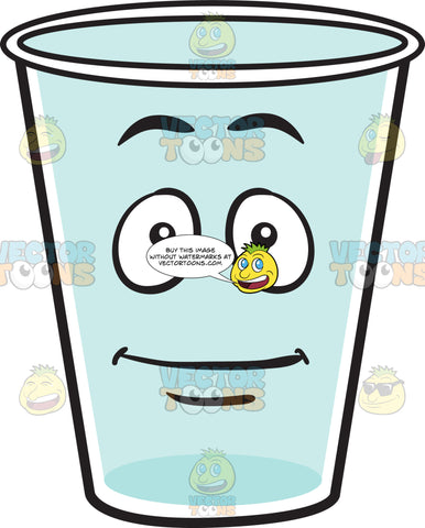 Fine And Empty Glass Character Emoji