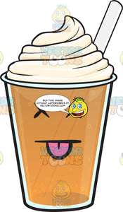 Silly Looking Frappe Emoji