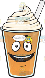 Delighted Frappe Emoji