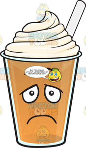 Depressed Frappe Emoji