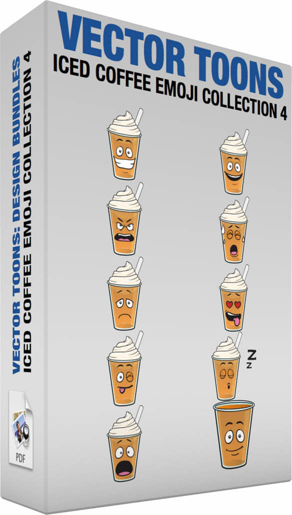 Iced Coffee Emoji Collection 4