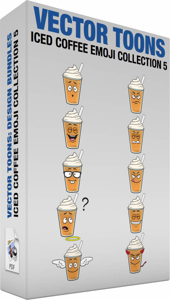Iced Coffee Emoji Collection 5