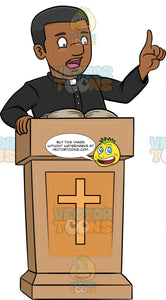 A Black Priest Telling The Good News