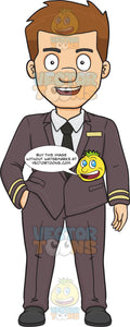 A Happy And Joyful Airline Pilot