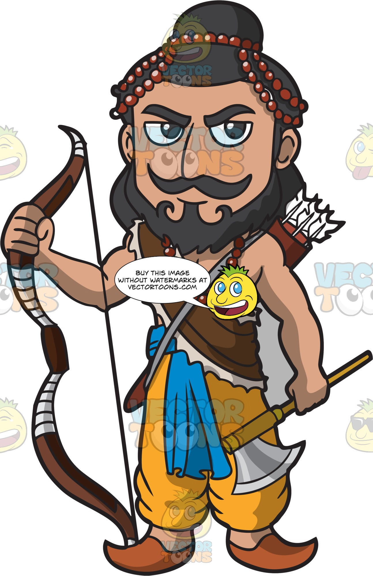 An Indian Warrior King Ready For Battle