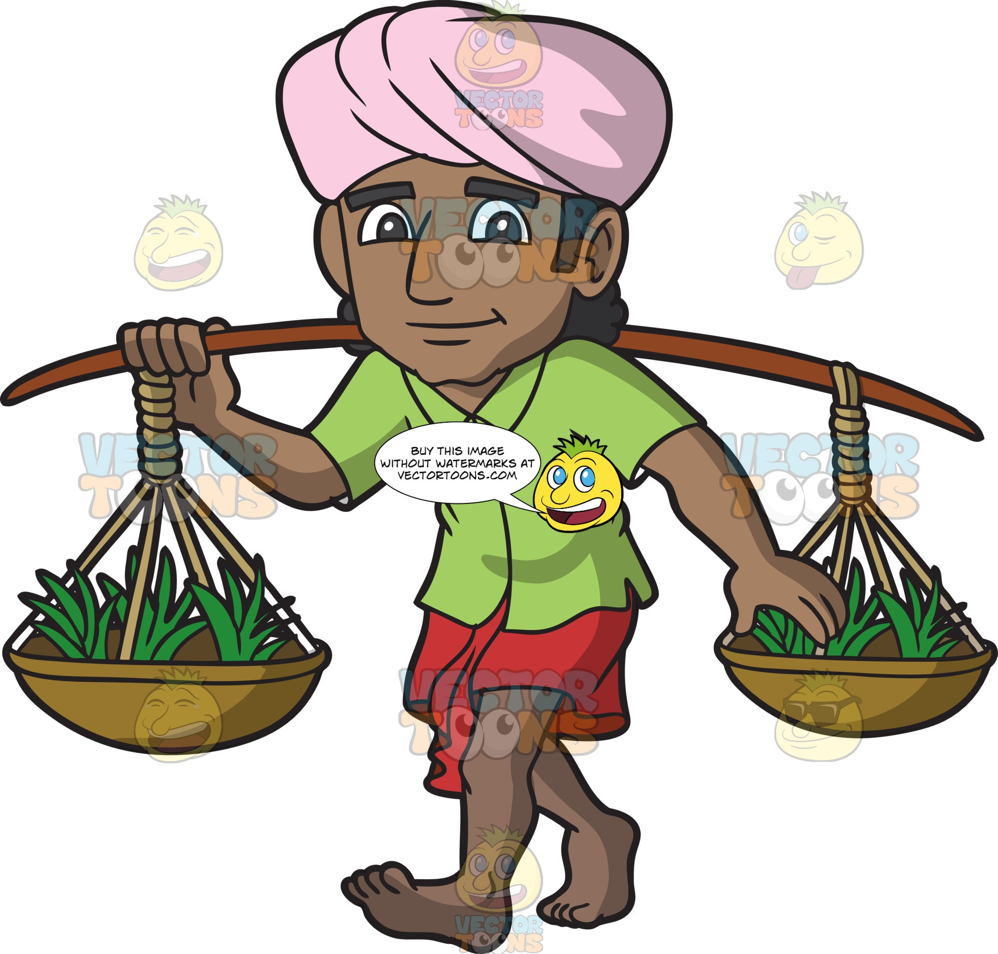 An Indian Merchant Selling Plants