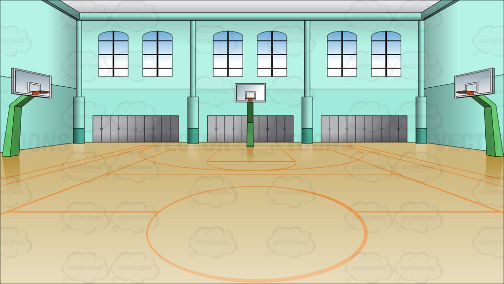 Indoor Basketball Court Background Clipart Cartoons By