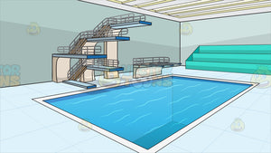 Indoor Olympic Style Diving Pool Background