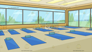 Inside A Bright Yoga Studio Background
