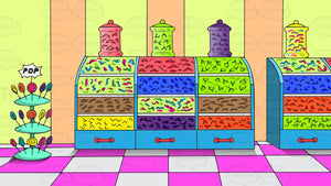Inside A Candy Store Background