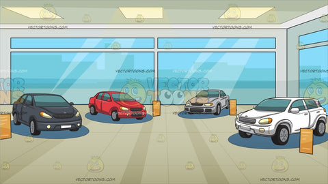 Inside A Car Showroom Background