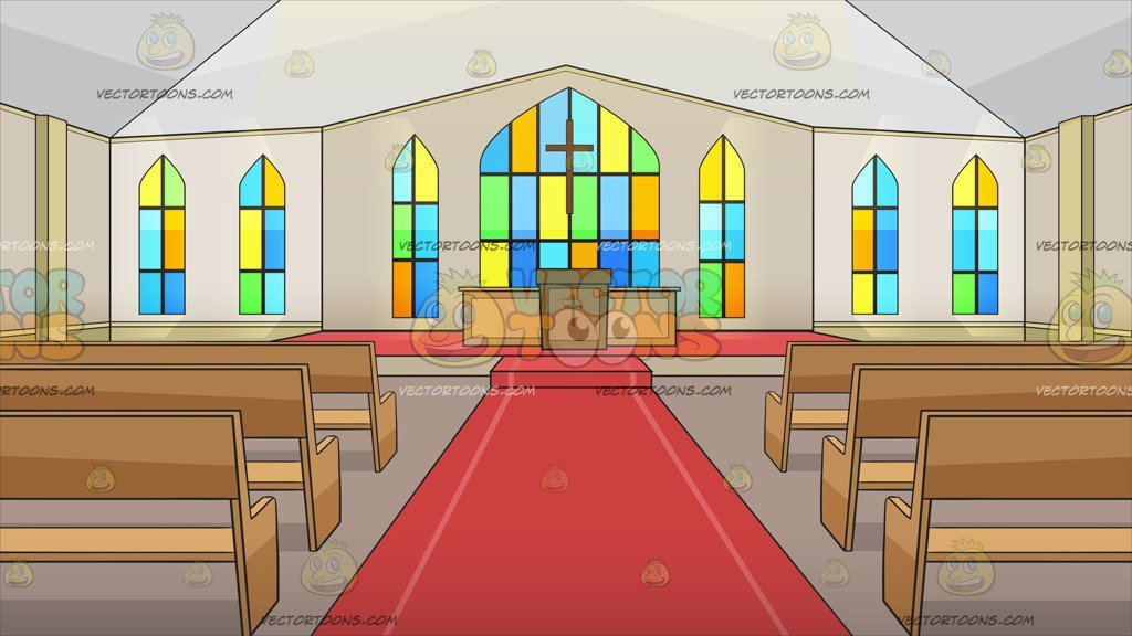 Inside A Chapel With An Altar Background