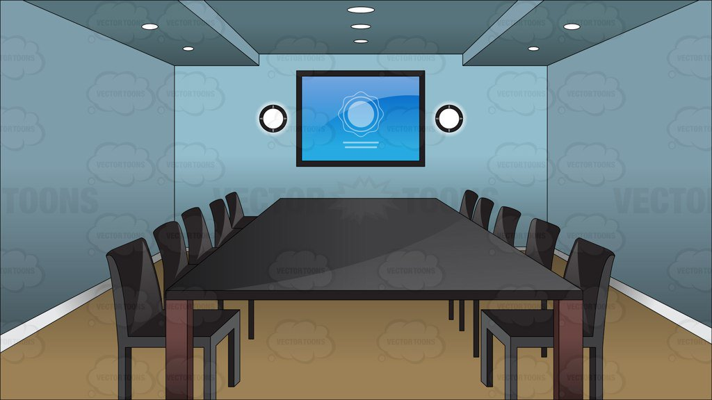 Inside A Conference Room Background Clipart Cartoons By
