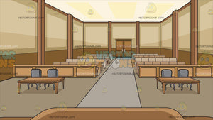 Inside A Courtroom Background