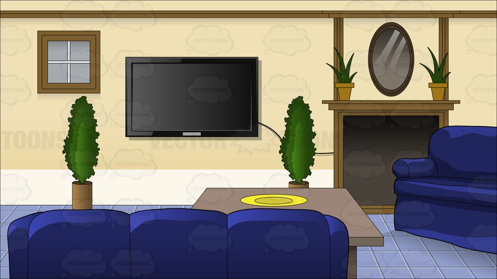 Inside A Family Room Background