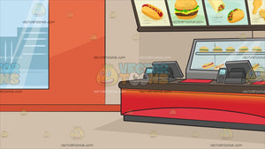 Inside A Fast Food Restaurant Background