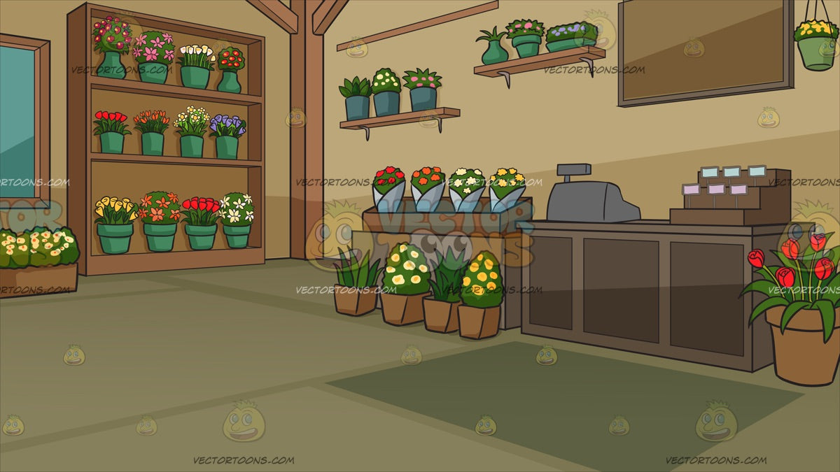 Inside A Floral Store Background