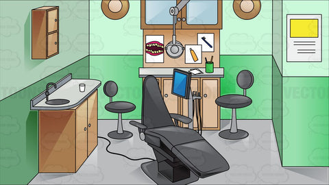 Inside A Green Dental Room