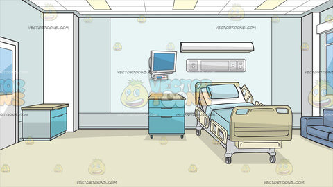 Inside A Hospital Room Background