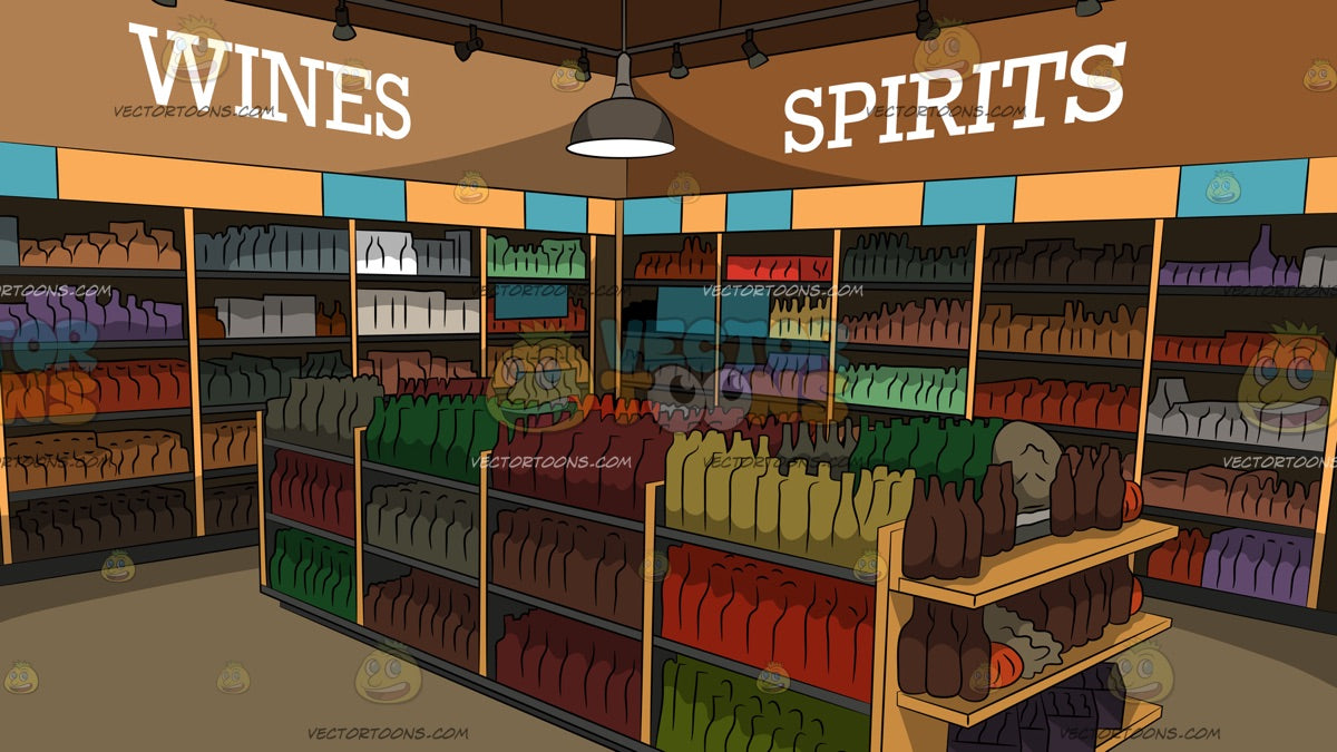 Inside A Liquor Store Background