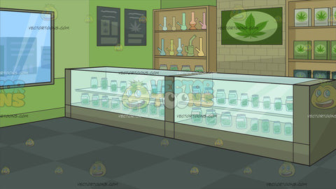Inside A Marijuana Dispensary Background