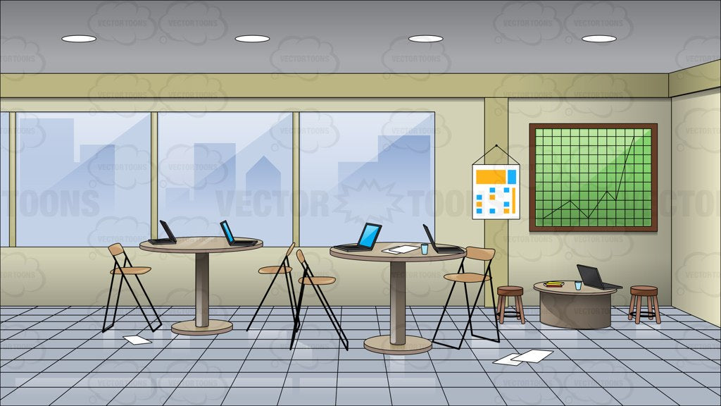 Inside A Messy Meeting Room Clipart Cartoons By Vectortoons