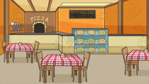 Inside A Pizzeria Background