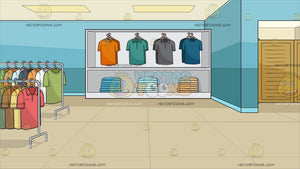 Inside A Shirt Shop For Men Background