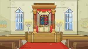 Inside A Synagogue Background