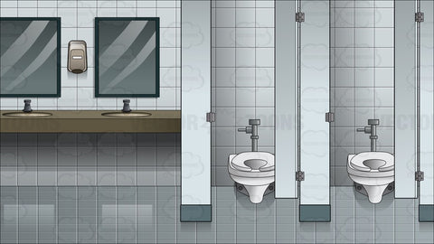 Inside A Women's Public Bathroom Background