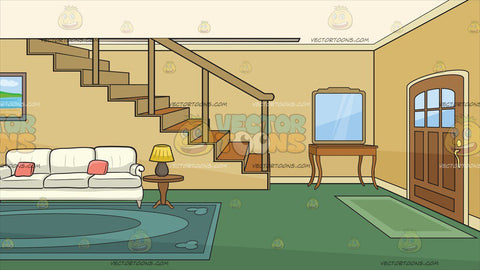 Inside The Front Entrance And Living Area Of A House Background