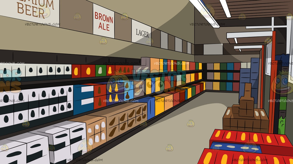Interior Of A Beer Store Background