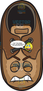 Irritated And Disgruntled Brown Shoe Emoji