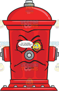 Irritated And Disgusted Look On Fire Hydrant Emoji