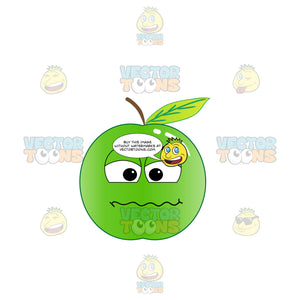Irritated And Frustrated Green Apple Emoji
