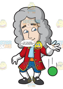 Isaac Newton Dropping A Ball