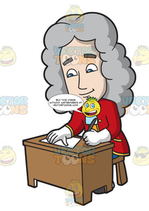 Isaac Newton Writing A Letter