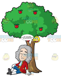 Isaac Newton Sitting Under An Apple Tree